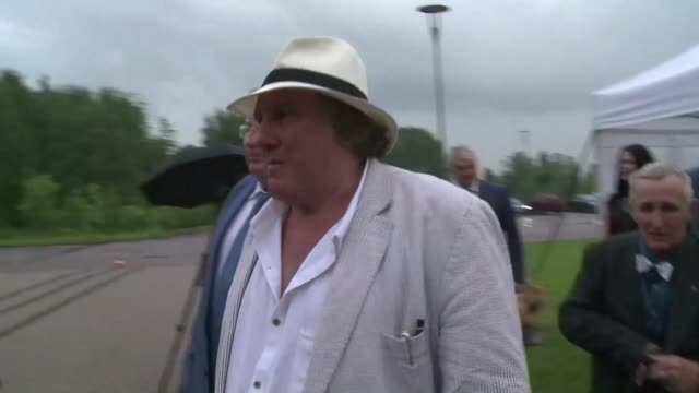 Gerard Depardieu arrived in Saint Petersburg Thursday for a party honoring the city of Saransk one of the host cities of the 2018 Football World Cup...