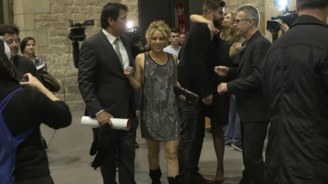 gerard pique and shakira attend the 'festa de esport catala 2016 awards' on january 25 2016 in barcelona spain - shakira stock videos & royalty-free footage