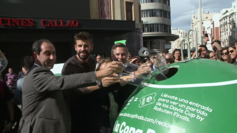 gerard pique, spanish football player of fc barcelona and president of kosmos for davis cup of tennis - davis cup stock-videos und b-roll-filmmaterial