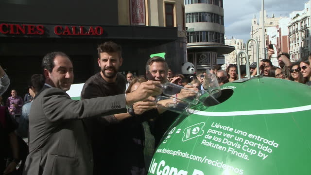 gerard pique, spanish football player of fc barcelona and president of kosmos for davis cup of tennis - davis cup stock videos & royalty-free footage