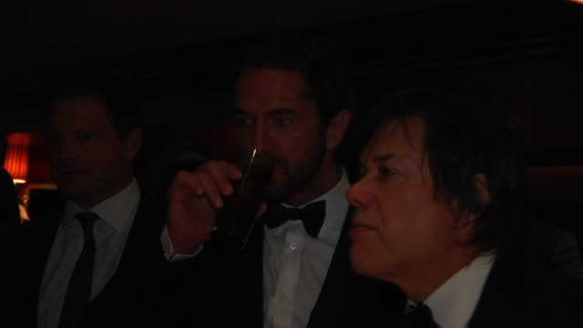 gerarld butler at the 2012 vanity fair oscar party hosted by graydon carter - inside party at west hollywood ca. - oscar party stock videos & royalty-free footage