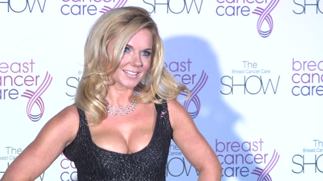 geri halliwell at the the breast cancer care show at london england - geri horner stock videos & royalty-free footage