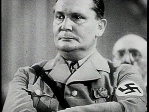 vidéos et rushes de german air force commander hermann goering / germany - wehrmacht