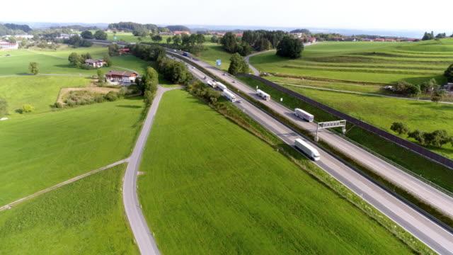 Duitse Autobahn in Irschenberg in Beieren