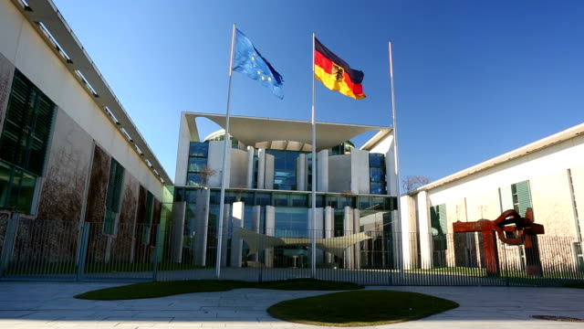 german chancellery - bundeskanzleramt in berlin - federal building stock videos & royalty-free footage