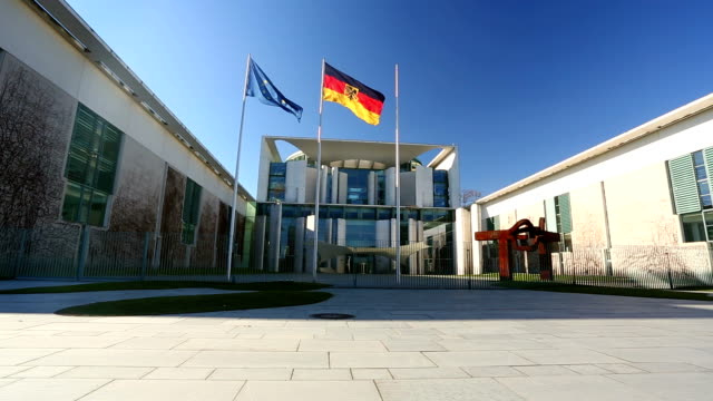german chancellery - bundeskanzleramt in berlin - canberra stock videos & royalty-free footage