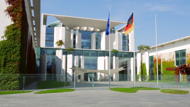 german chancellery in berlin - german flag stock videos & royalty-free footage