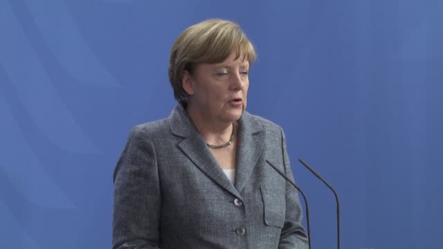 german chancellor angela merkel and egyptian president abdel fattah alsisi hold a press conference at the chancellery following their meeting in... - president of egypt stock videos & royalty-free footage