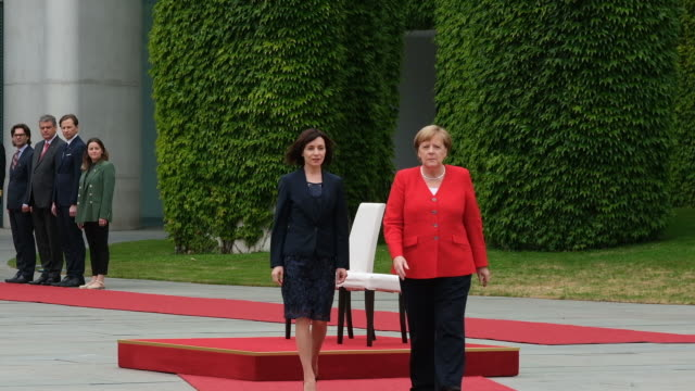 DEU: Moldovan Prime Minister Sandu Meets With Angela Merkel