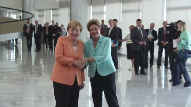 German Chancellor Angela Merkel arrived in Brazil Thursday to meet with President Dilma Rousseff seeking to renew cooperation and trade between the...
