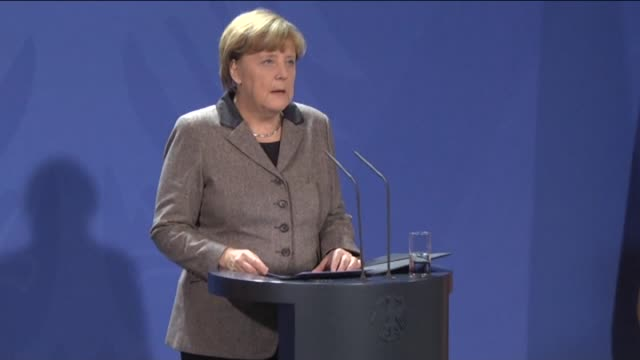 german chancellor angela merkel attends a press conference on the latest istanbul blast in berlin germany on january 12 2016 - chancellor stock videos and b-roll footage