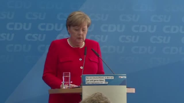 German Chancellor Angela Merkel expresses her condolences for the victims of a bus crash in Germany that has left up to 18 people dead in one of the...