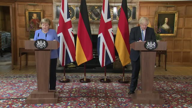 """german chancellor angela merkel saying she is """"concerned"""" about the amount of fans being allowed to attend euro 2020 matches at wembley during the... - national flag stock videos & royalty-free footage"""