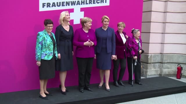 german chancellor angela merkel says she hopes no one will be forced into a role or a specific task because of his or her gender in a speech marking... - angela merkel stock videos & royalty-free footage