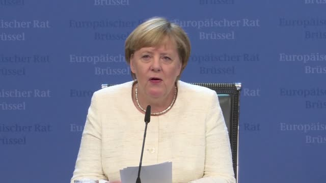 german chancellor angela merkel says the 27 eu member states are in favour of doing everything in their power to find a solution despite the current... - doing a favour stock videos & royalty-free footage