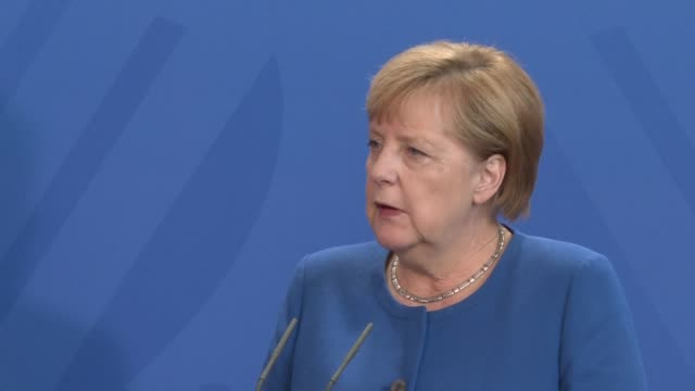 german chancellor angela merkel stresses that the unity of the remaining 27 eu members was of the utmost importance as the bloc awaited a detailed... - angela merkel stock videos & royalty-free footage