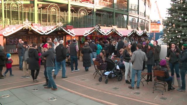 Chicago German Christmas Market.World S Best Christkindlmarket Chicago Stock Video Clips And