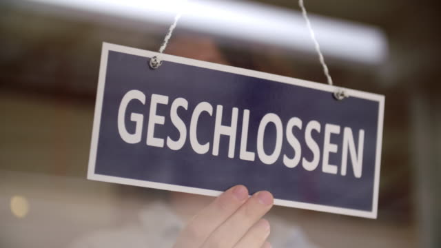 german closed sign - german culture stock videos & royalty-free footage