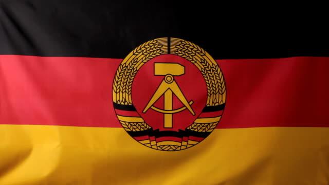 CU German Democratic Republic flag waving / Berlin, Germany