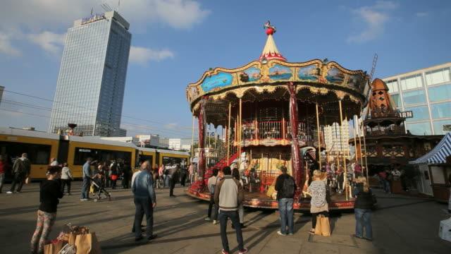 German fair with Carousel at Alexanderplatz
