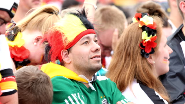 German fans are hoping and are getting disappointed during Germany lost the 2018 FIFA World Cup Russia Group F match against Korea Republic at the...