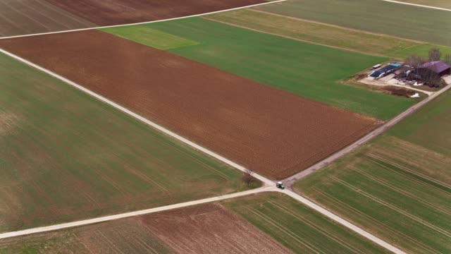上からドイツの農地 - バーデン・ビュルテンベルク州点の映像素材/bロール