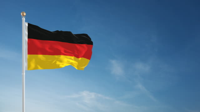 4K German Flag - Loopable