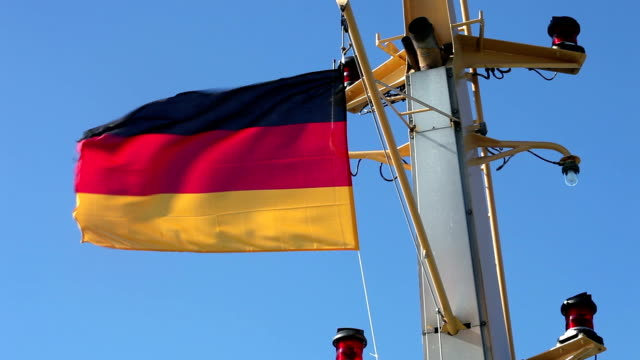 german flag on ship - german flag stock videos & royalty-free footage