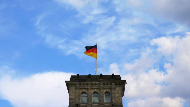 german flag on top of reichstag. - the reichstag stock videos & royalty-free footage