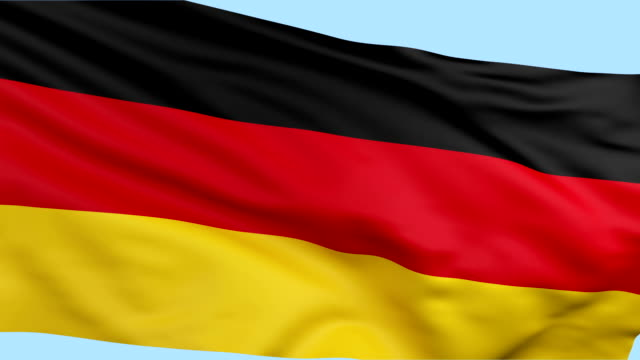 german flag waving loopable background - german flag stock videos & royalty-free footage