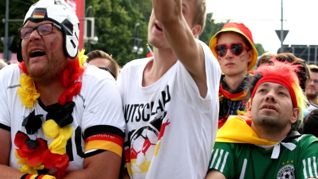 German football fan is complaining about a game decision and is getting upset while Germany is loosing the 2018 FIFA World Cup Russia Group F match...
