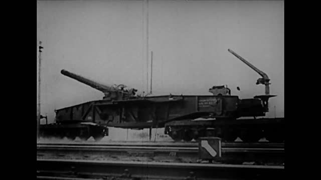 german forces/ german long-range artillery guns firing across english channel - artillery stock videos & royalty-free footage