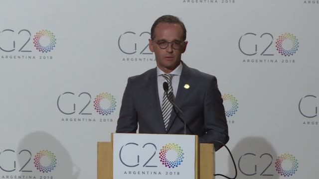 German Foreign Minister Heiko Maas attending the G20 foreign ministers meeting in Buenos Aires says he was not surprised by US Secretary of State...
