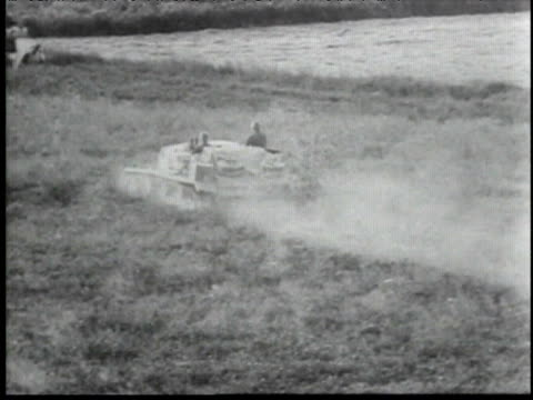 german infantry and tanks fighting, advance across country side. - infantry stock videos & royalty-free footage