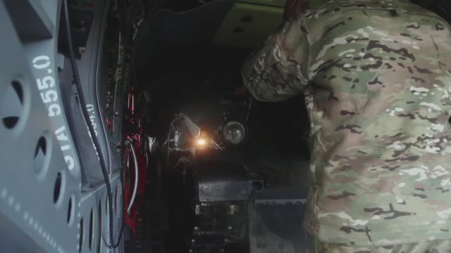 a german infantry platoon conducted training with a us army ch47 chinook helicopter at rena airfield norway during exercise trident juncture 2018 - platoon stock videos and b-roll footage
