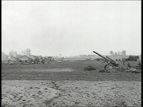 german infantry reclined hillside vs field artillery firing hitler standing w/ officers looking through binoculars field glasses bending back looking... - luftwaffe stock videos and b-roll footage