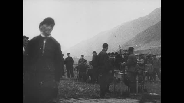 vídeos de stock, filmes e b-roll de german infantry troops moving to caucasus/ soviet voluteers join the army - 1942