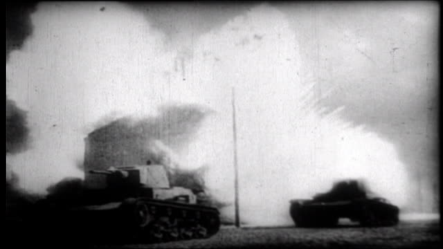 german invasion of russia montage - tank stock videos & royalty-free footage