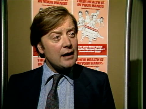 london intvw sof the consequences of all four ms clarke at campaign meeting bv members at campaign meeting cms leaflets cu leaflet an important... - kenneth clarke stock-videos und b-roll-filmmaterial