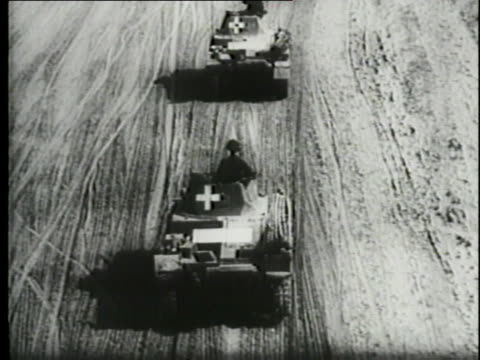 german military tanks invade poland despite appeals from pope pius xii and u.s. president franklin d. roosevelt not to attack. - world war ii stock videos & royalty-free footage