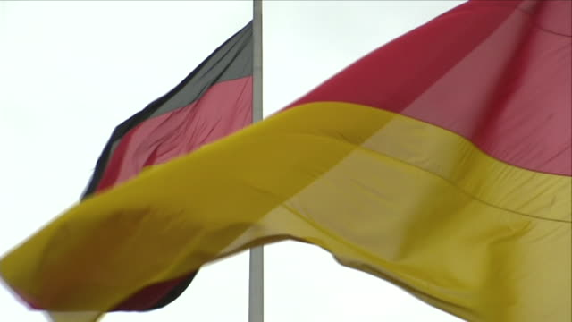 german national flag blowing in the wind - german flag stock videos & royalty-free footage