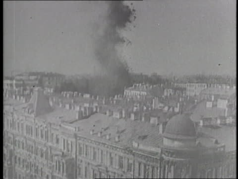 german nazi bombs fall and explode in the city of leningrad, soviet union during world war ii. - st. petersburg russia stock videos & royalty-free footage