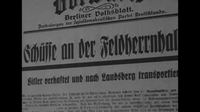 german newspaper headline / german newspaper headline - adolf hitler stock-videos und b-roll-filmmaterial