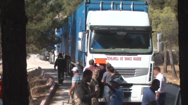 German patriot batteries deployed in southeastern province Kahramanmaras of Turkey were taken away to Incirlik Air Base with 4 articulated lorries to...