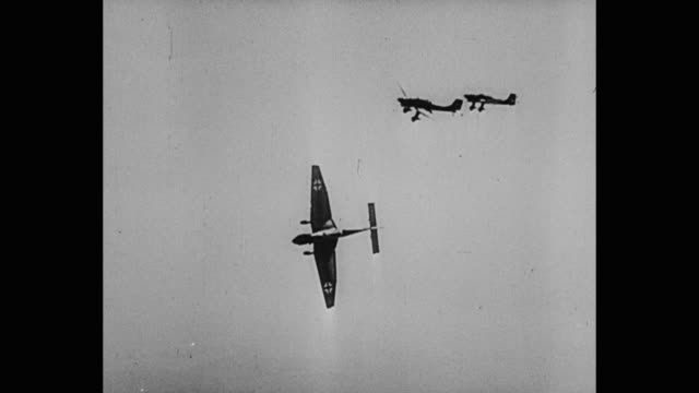 german planes dive bombing - bomber stock videos & royalty-free footage