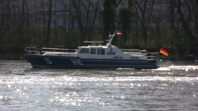 german police boat (hd, ntsc, pal) - police boat stock videos and b-roll footage
