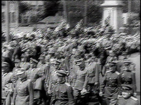 german pows are marched through the streets of moscow / moscow russia - 1944 stock videos and b-roll footage
