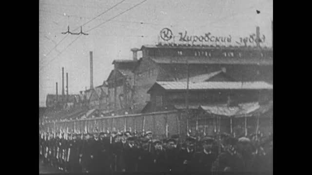 german pows being escorted through leningrad streets/ volunteers join army - 1942 stock videos & royalty-free footage