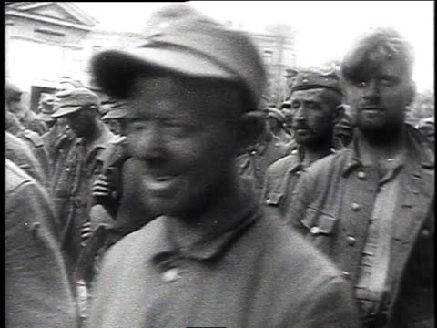 german pows marching through the streets of moscow / moscow russia - 1944 stock videos and b-roll footage