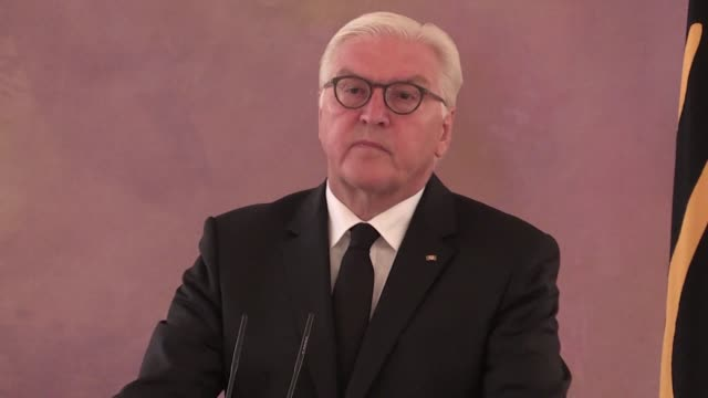 german president frank walter steinmeier pays tribute to helmut kohl the former german chancellor who died on friday morning - kohls stock videos & royalty-free footage